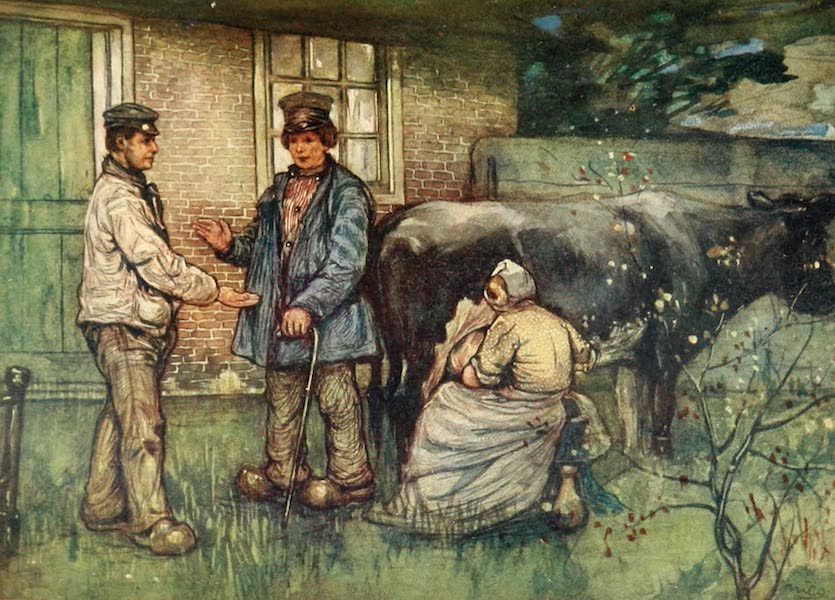 Holland, by Nico Jungman - The Sale of a Cow (1904)