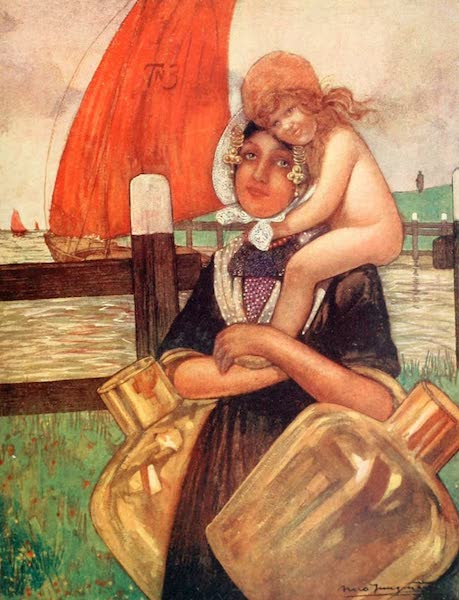 Holland, by Nico Jungman - Mother and Baby (1904)