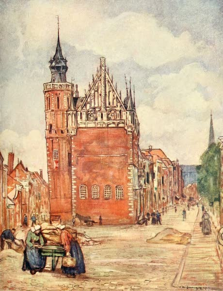 Holland, by Nico Jungman - The Town-hall of Kampen (1904)