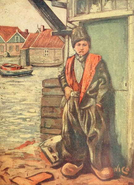 Holland, by Nico Jungman - A Fisher Boy (1904)