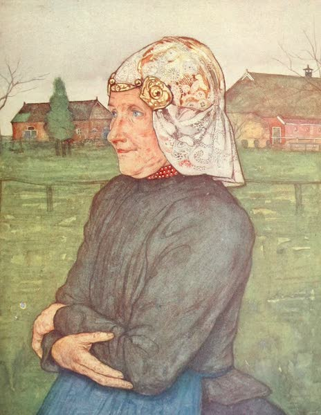 Holland, by Nico Jungman - Old Woman of Drenthe (1904)