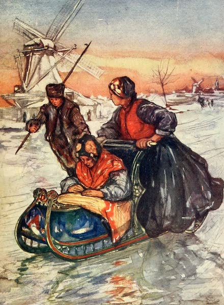 Holland, by Nico Jungman - A Race on Skates (1904)