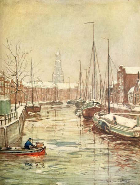 Holland, by Nico Jungman - A Groningen Canal in Early Winter (1904)