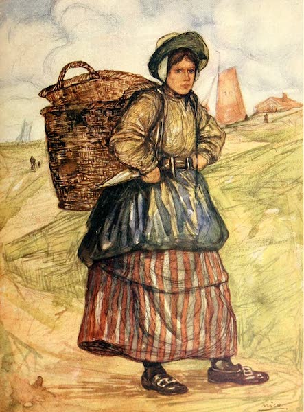 Holland, by Nico Jungman - A Fisher woman of Zandvoort (1904)