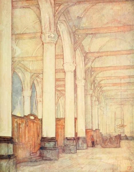 Holland, by Nico Jungman - A Church Interior, Monnickendam (1904)