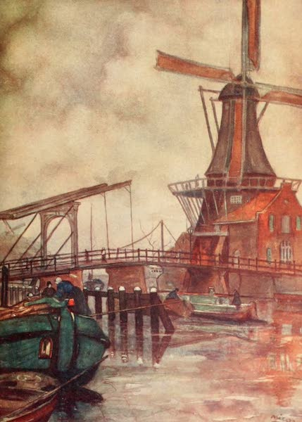 Holland, by Nico Jungman - Mill de Adrian, Haarlem (1904)