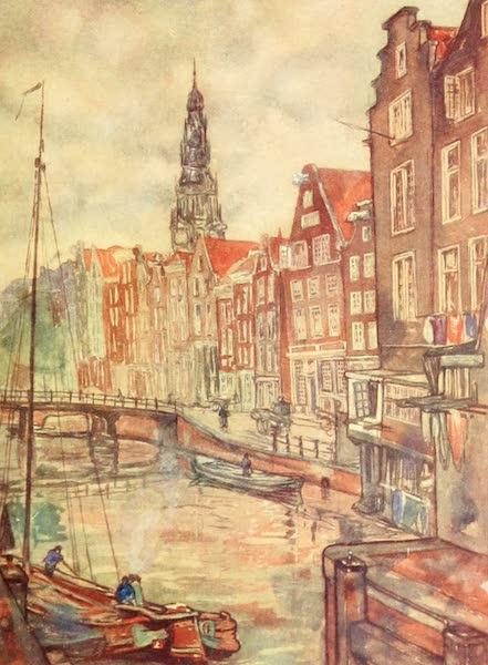 Holland, by Nico Jungman - Oudezijdsch, Voorburgwal, Amsterdam (1904)