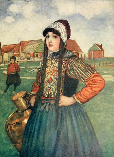 Holland, by Nico Jungman - A Girl of Marken (1904)