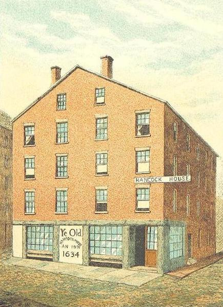 Homes of our Forefathers in Boston - The Hancock Tavern, Corn Court (1889)