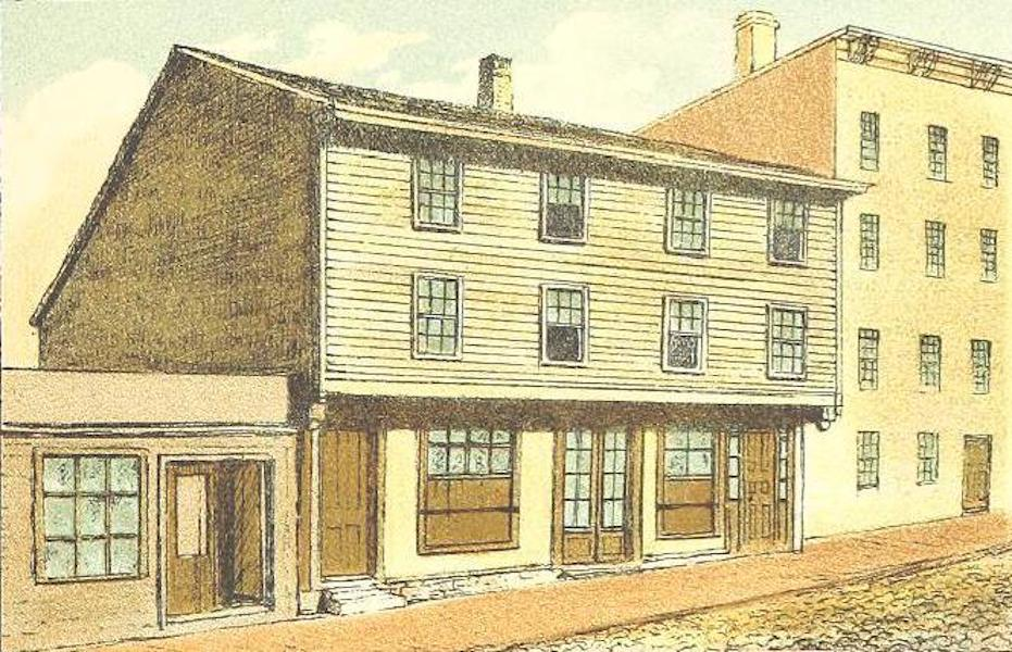 Homes of our Forefathers in Boston - The Paul Revere House, North Square (1889)