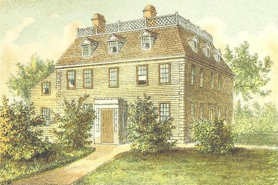 Homes of our Forefathers in Boston - Edward Everett's Birthplace, Dorchester (1889)