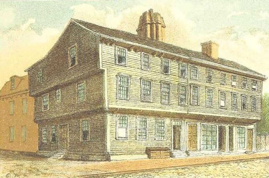 Homes of our Forefathers in Boston - The Well's Mansion, Salem Street (1889)