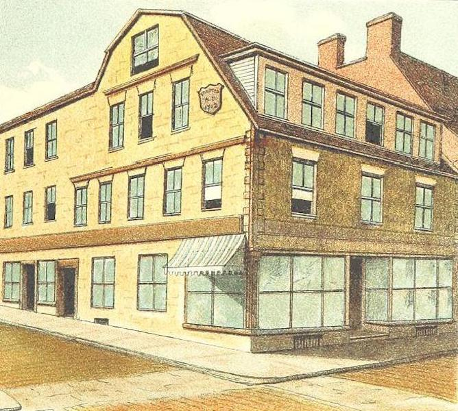 Homes of our Forefathers in Boston - Old Corner Bookstore (1889)