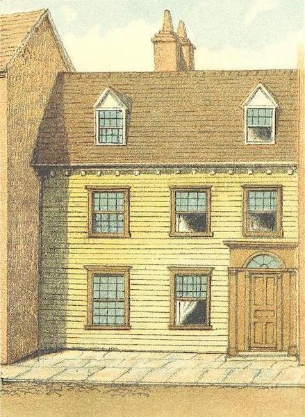 Homes of our Forefathers in Boston - Mather Eliot House, Hanover Street (1889)