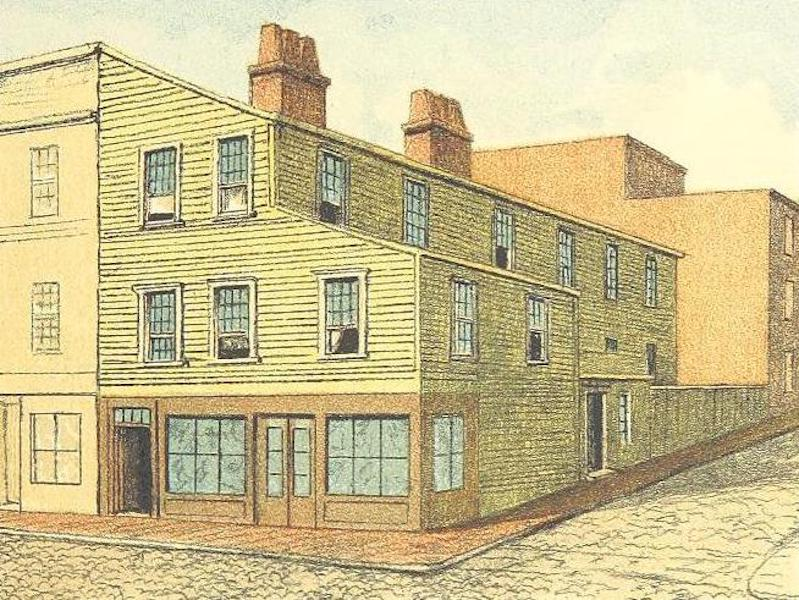 Homes of our Forefathers in Boston - The Tileston House, Prince Street (1889)