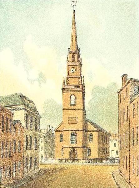 Homes of our Forefathers in Boston - Christ Church, Salem Street (1889)