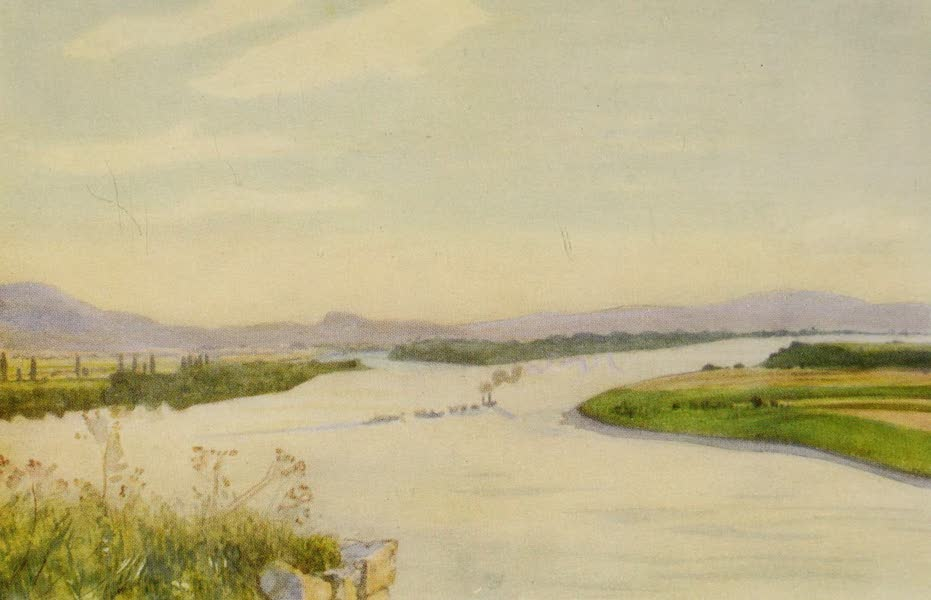 Hungary, Painted and Described - The Danube from Esztergom (Gran) (1909)