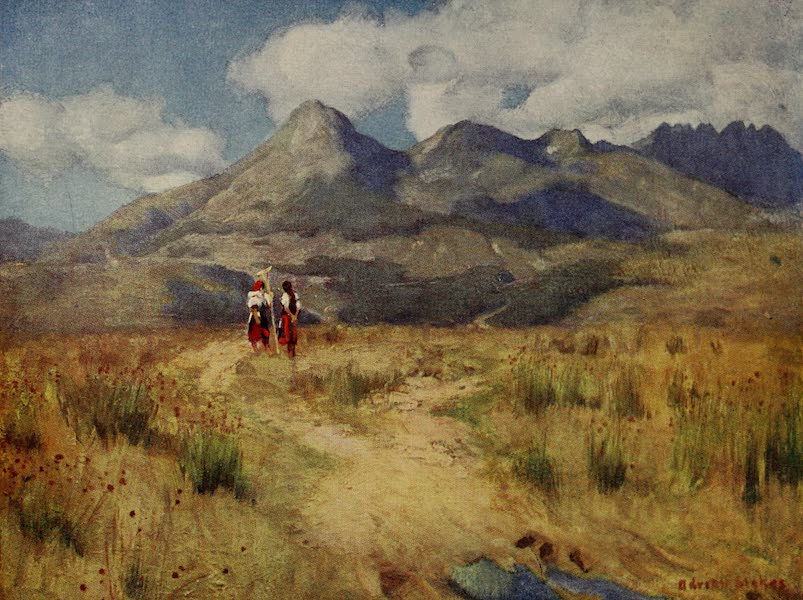 Hungary, Painted and Described - Krivan, seen from near Vazsecz (1909)
