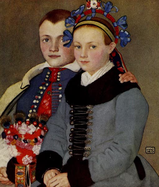 Hungary, Painted and Described - An Engaged Couple (1909)