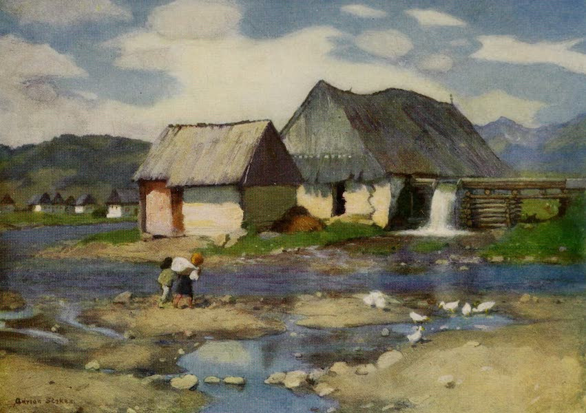 Hungary, Painted and Described - A Mill near Vazsecz (1909)