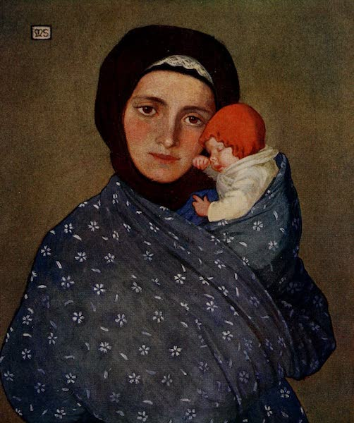 Hungary, Painted and Described - Mother and Child at Menguszfalva (1909)