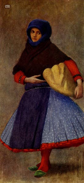Hungary, Painted and Described - Woman of Kalocsa in Work-day Dress (1909)