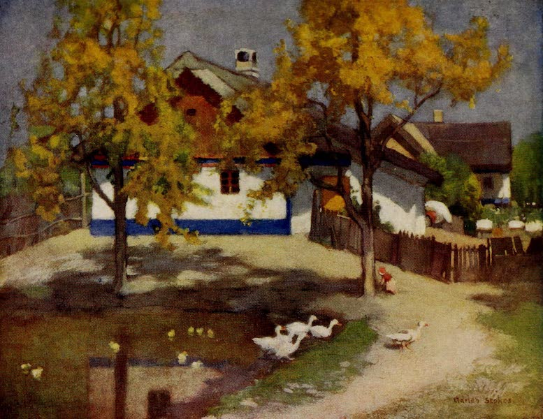 Hungary, Painted and Described - CottageatKalocsa (1909)