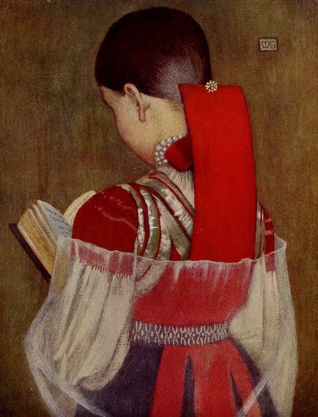Hungary, Painted and Described - Young Girl of Zsdjar in Sunday Clothes (1909)