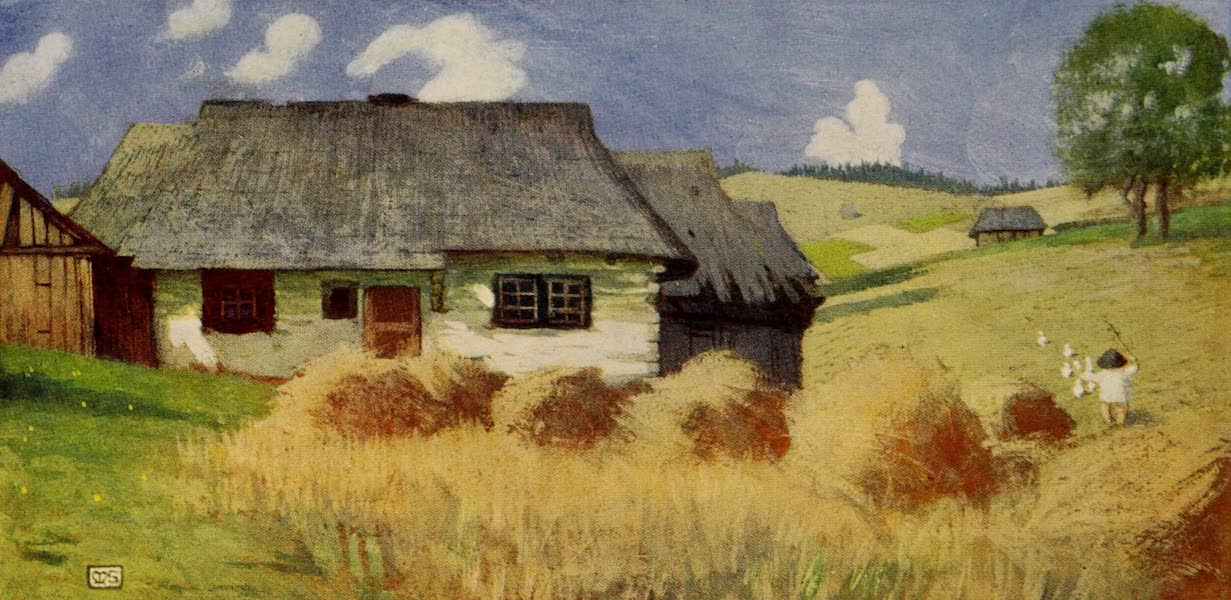 Hungary, Painted and Described - A Cottage at Zsdjar (1909)