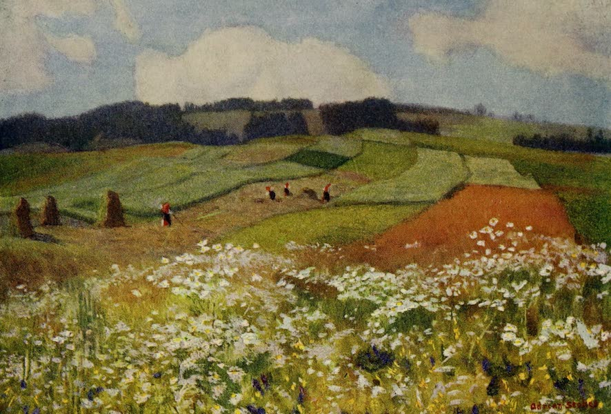 Hungary, Painted and Described - Hay-time, Upper Hungary (1909)