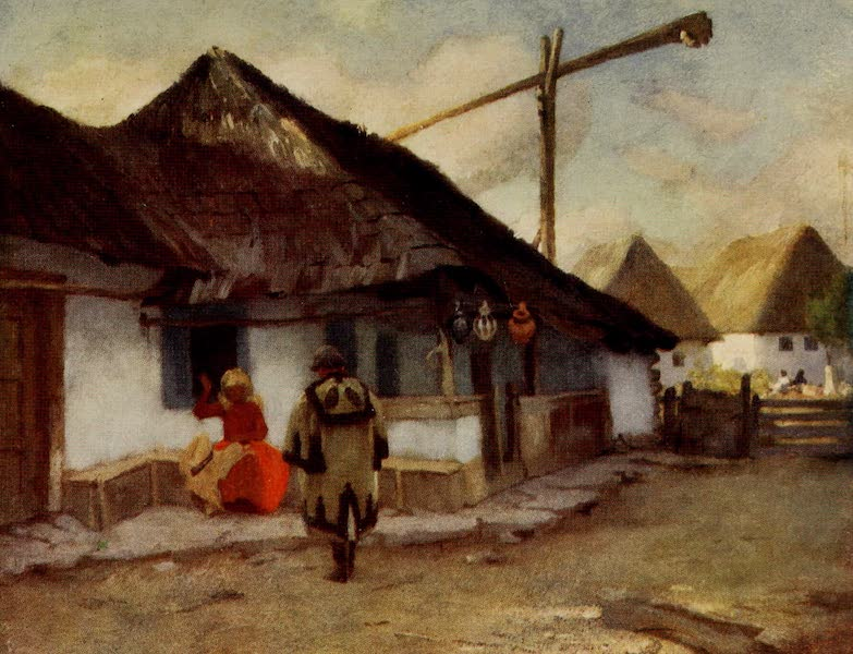 Hungary, Painted and Described - A Magyar Cottage at Banffy-Hunyad (1909)