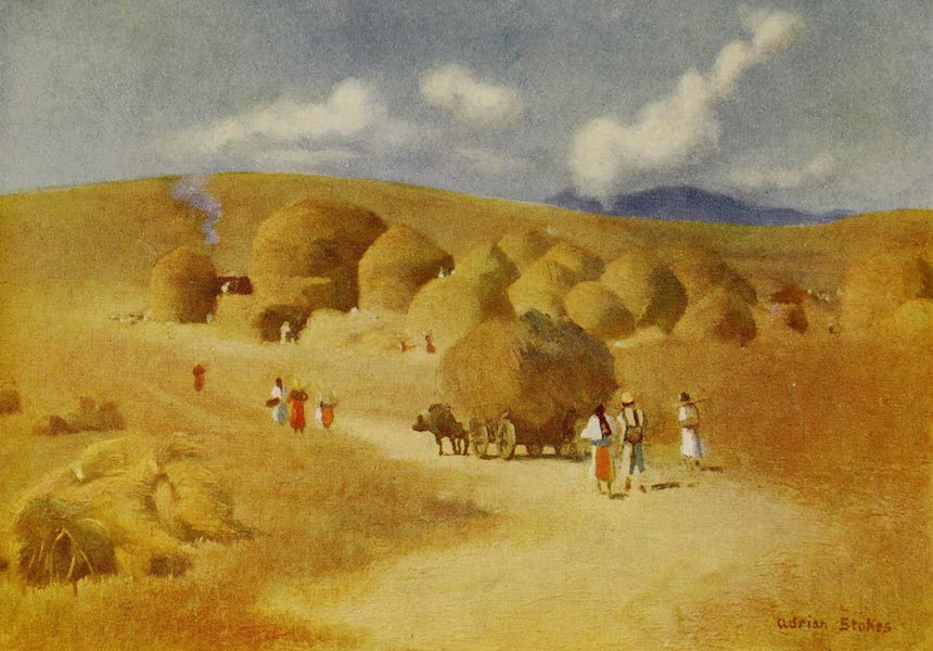Hungary, Painted and Described - Harvest-time in Transylvania (1909)