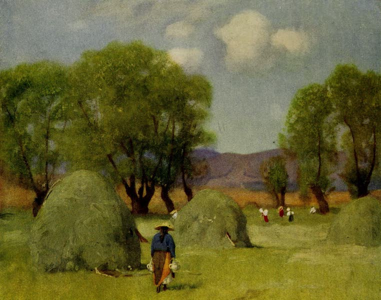 Hungary, Painted and Described - Hay-time in Transylvania (1909)
