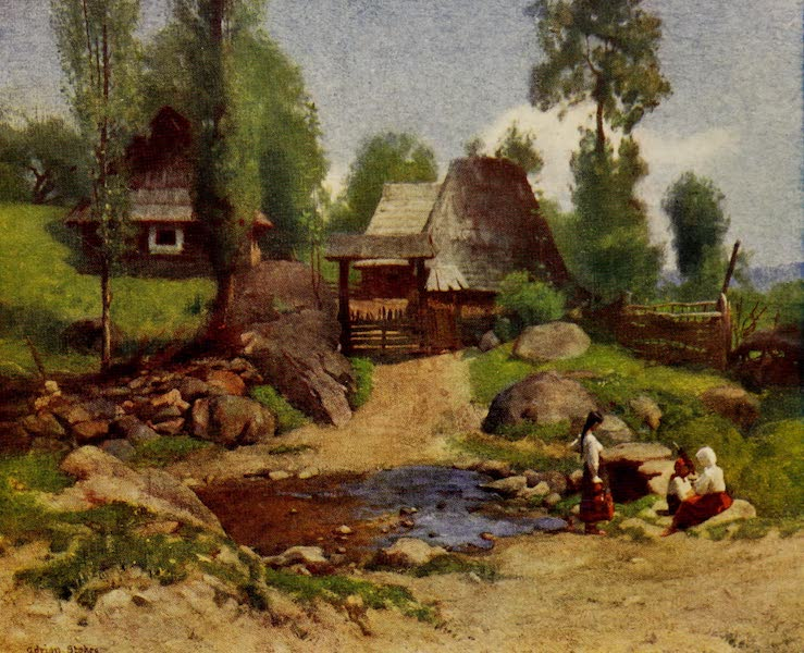 Hungary, Painted and Described - A Rumanian Homestead at Desze (1909)