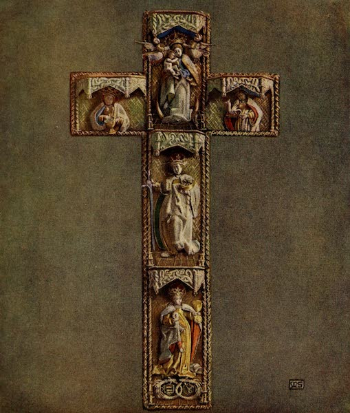 Hungary, Painted and Described - Cross embroidered on a Chasuble (1909)