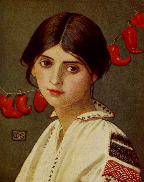 Hungary, Painted and Described - A Rumanian Maiden (1909)