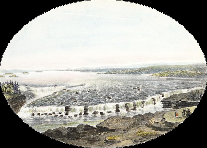 Hunter's Ottawa Scenery - Birds Eye View of Chaudiere Falls, Ottawa River, Canada (1855)