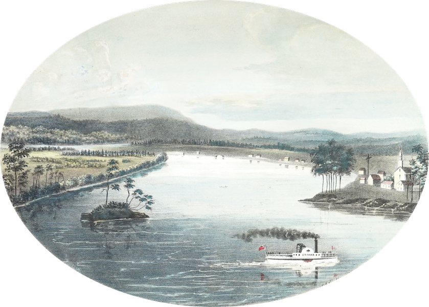 Hunter's Ottawa Scenery - Junction of the Gatineau with the Ottawa River, Canada (1855)