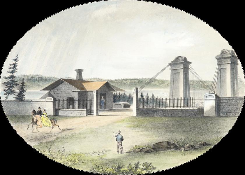 Hunter's Ottawa Scenery - The Approach to the Suspension Bridge (1855)