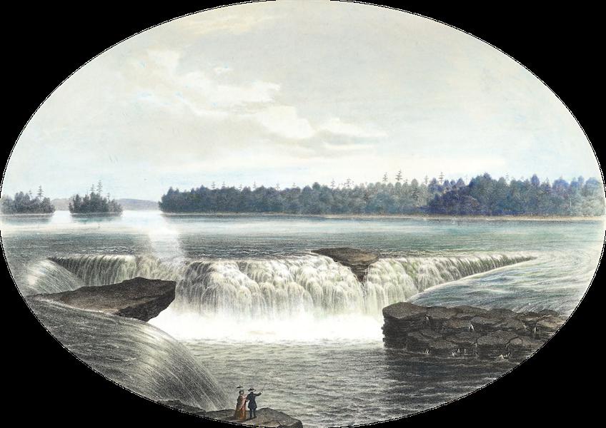Hunter's Ottawa Scenery - The Big Kettle, Chaudiere Falls, Ottawa River, Canada (1855)