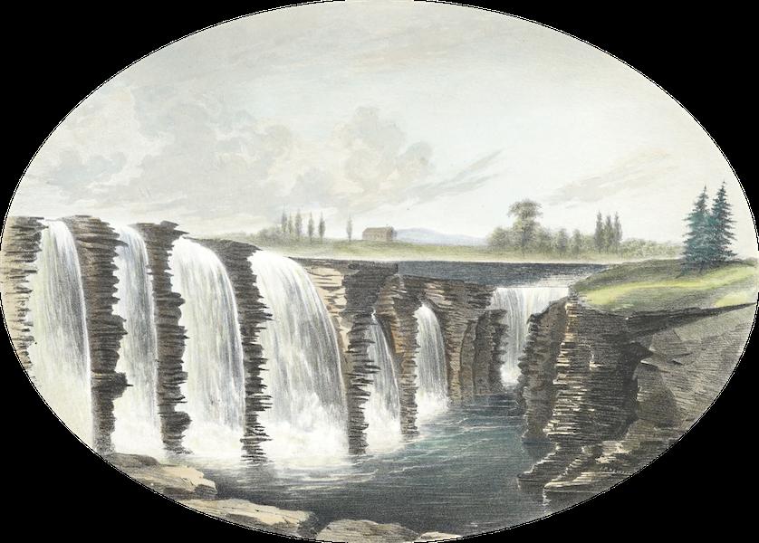 Hunter's Ottawa Scenery - The Chasm, Chaudiere Falls, Ottawa River, Canada (1855)