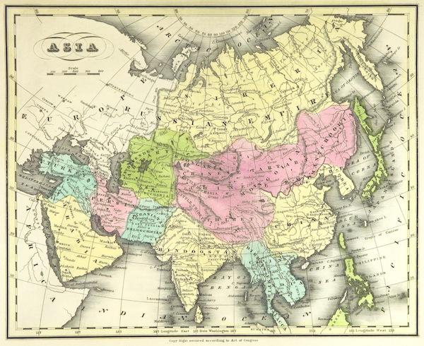 Huntington's School Atlas - Asia (1836)