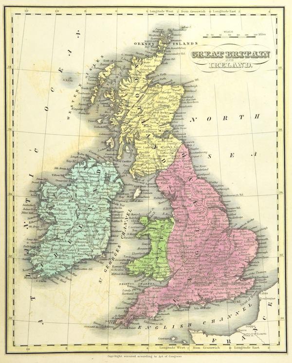 Huntington's School Atlas - Great Britain and Ireland (1836)
