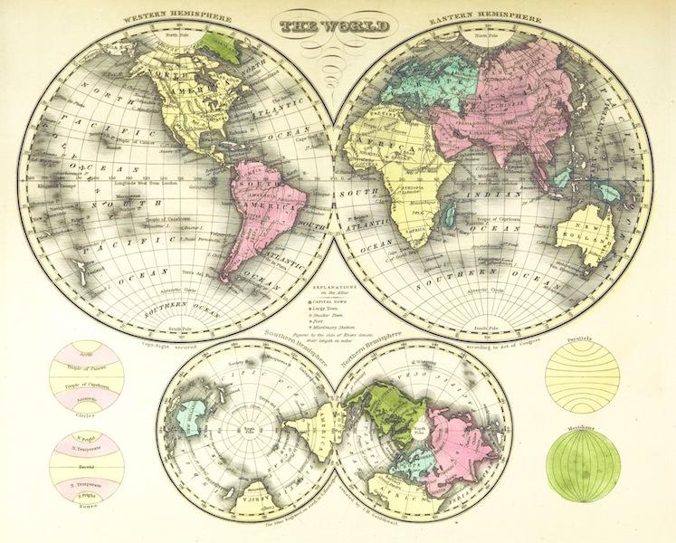 Huntington's School Atlas - The World (1836)