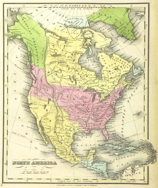 Huntington's School Atlas - North America (1836)