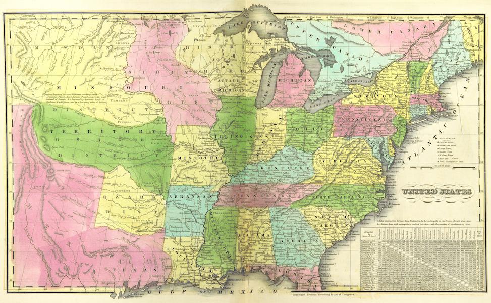 Huntington's School Atlas - United States (1836)