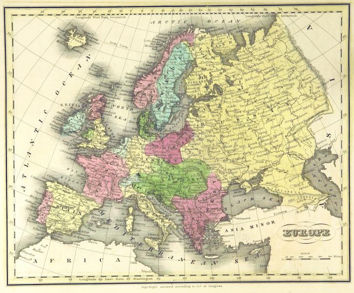 Huntington's School Atlas - Europe (1836)