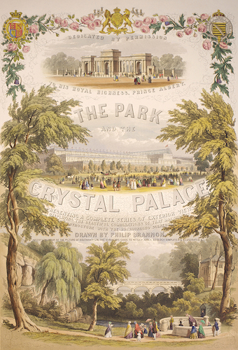 Aquatint & Lithography - Hyde Park and the Crystal Palace