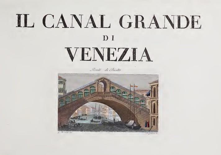 Aquatint & Lithography - Il Canal Grande di Venezia