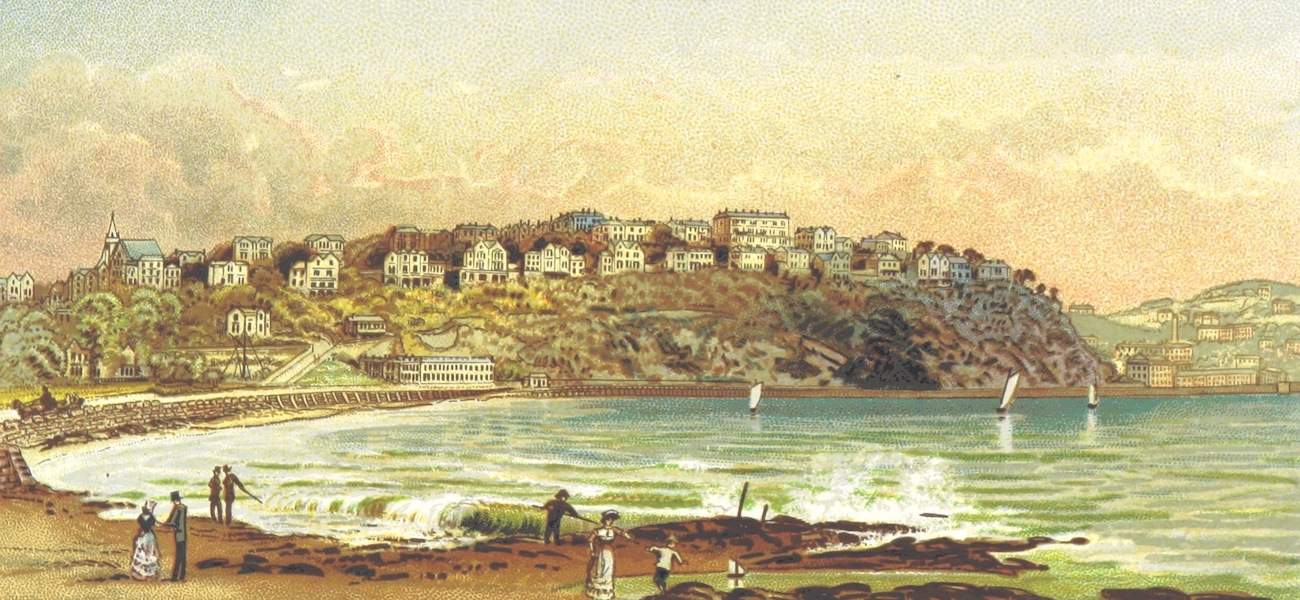 Illustrated Guide to Torquay and Neighbourhood - Torquay from Station Road (1884)